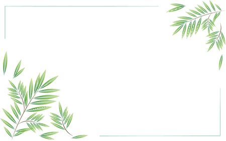 branches of the willow tree lines of the card background vector  イラスト・ベクター素材