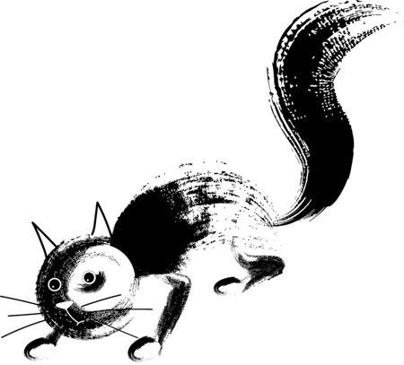 Cat brushes vector illustration art