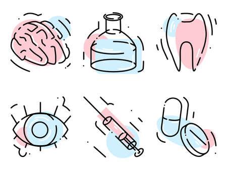 medicine icons for online shop or website 일러스트