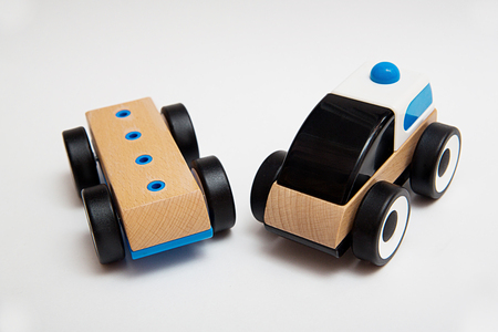 나무 장난감 자동차 스톡 콘텐츠