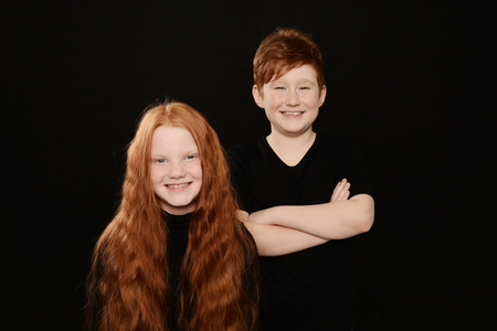 many Teens with red hair Stock Photo