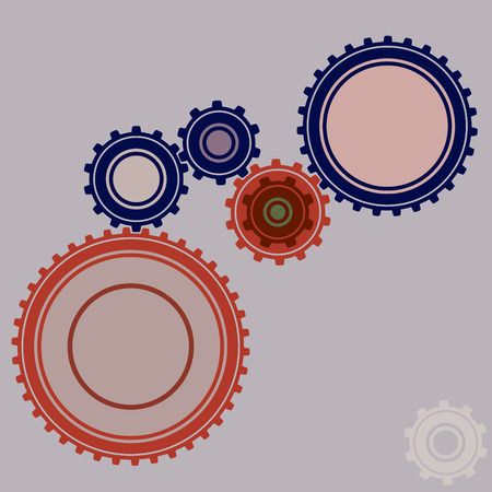 watch movement: illustration of six gears