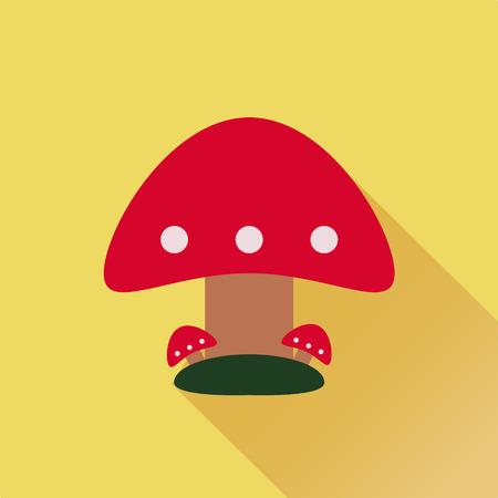 inedible: illustration of three red mushroom