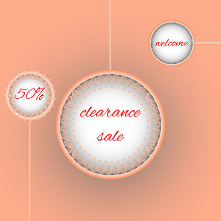 clearance: Clearance Sale Poster 50%