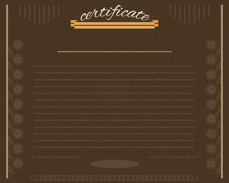 Vector certificate template for business document Illustration