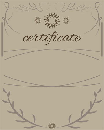 manifest: Vector certificate template for business document Illustration