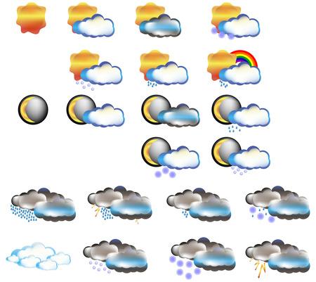 forecast: Weather icon set vector forecast