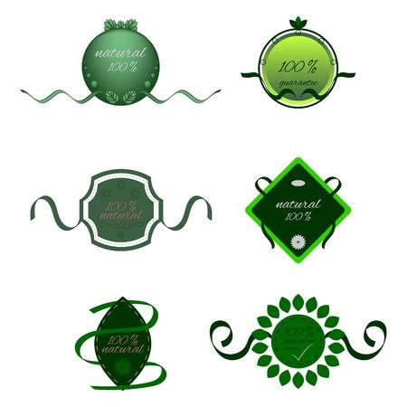 productos naturales: emblema productos naturales etiqueta verde