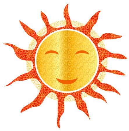 openwork: Sun  openwork smiley smiling hot summer Stock Photo