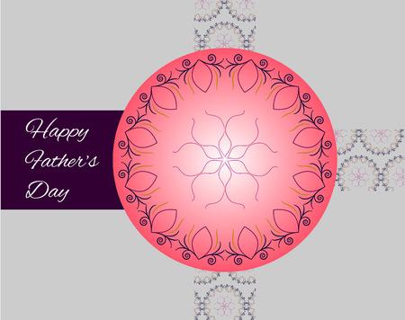 happy Fathers Day: Padres de familia feliz d�a tarjeta de felicitaci�n de vacaciones