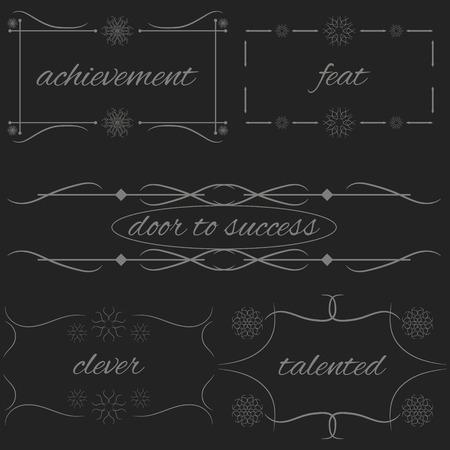 talented: Vector Set Border Design Element Frame