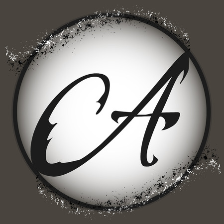 crumb: letter logo chocolate crumb  Elegant style vector