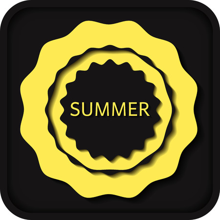 convex: summer convex elements yellow emblem Illustration
