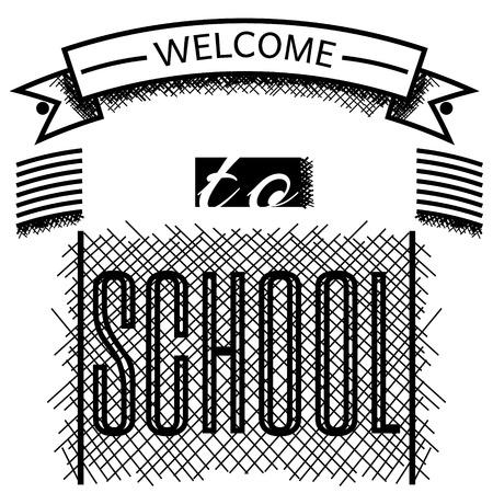 Школа: Добро пожаловать в школу баннер вектор