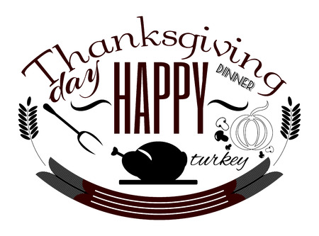 thanksgiving art: Happy Thanksgiving Day banner card vector