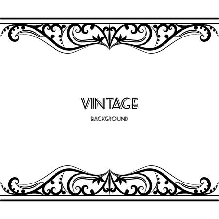 vintage achtergrond frame ontwerp zwarte vector retro Stock Illustratie