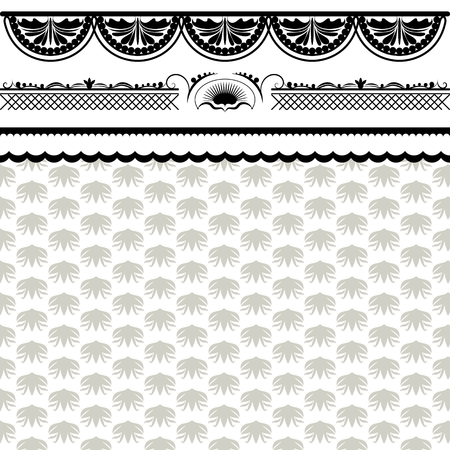 antique art: vintage background frame design black vector retro Illustration