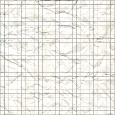 crumpled: crumpled paper texture vector white squared Illustration