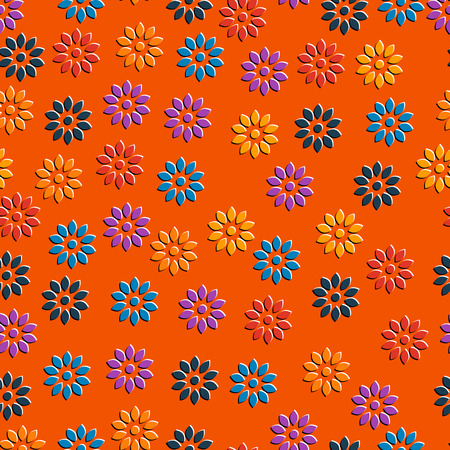fabric patterns: pattern flowers wallpaper background vector retro