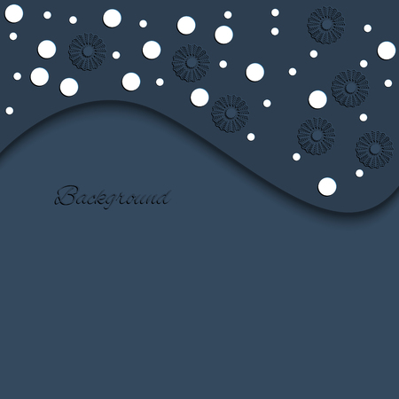 postcard background: snowflakes background card postcard vector