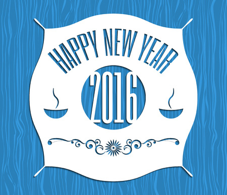 happy new years: New year retro vintage badges, ribbons and labels vector