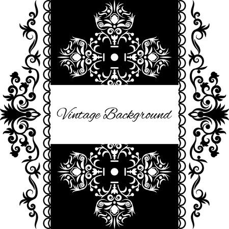 elegant white: vintage background frame design black vector, save the date