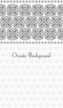 scroll work: Pattern in Eastern style on scroll work background vector Illustration