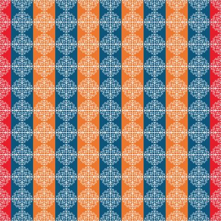 ceramic: Pattern with ceramic motives vector Vectores