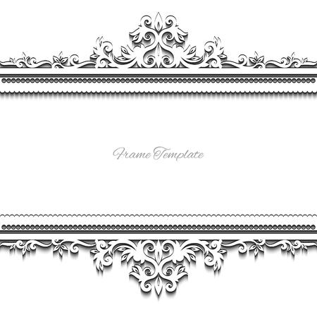 page background: vintage background frame design  vector victorian style