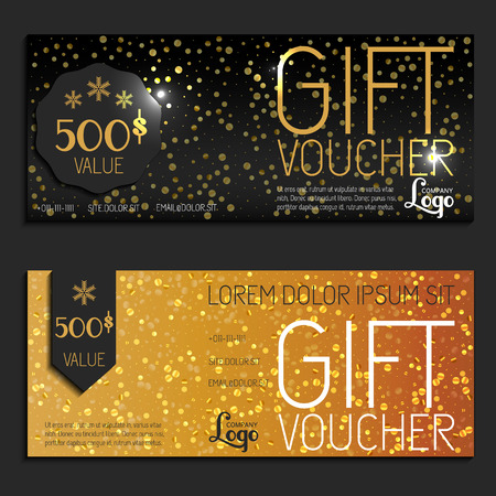 COUPON TEMPLATE: gift voucher vector coupon template present