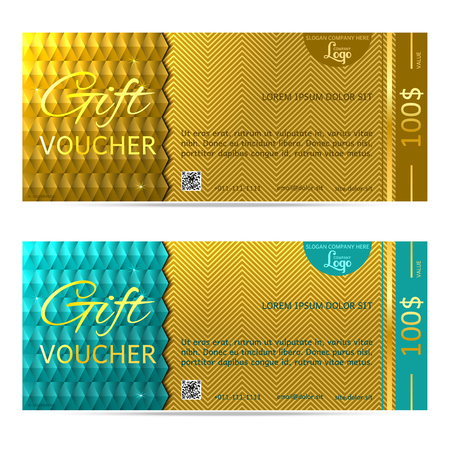 corporate gift: gift voucher illustration coupon template for company corporate style present Illustration