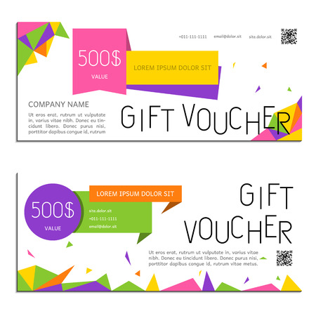 gift voucher: gift voucher gold vector illustration coupon template for company corporate style present