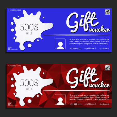 corporate gift: gift voucher vector illustration coupon template for company corporate style present Illustration