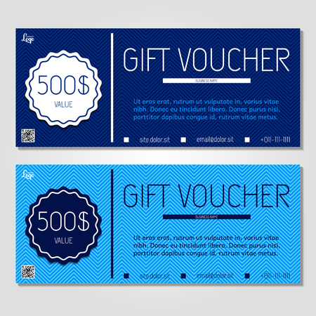 corporate gift: gift voucher illustration coupon template for company corporate style present. Easy to use and edit. , illustration. Layout template Illustration