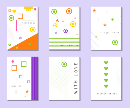br: Card with love confession. Card with place for your text. Vector. Illustration.  Set of creative universal  postcards. Hand Drawn textures. Wedding, anniversary, birthday, Valentins day, party invitations. Design for poster, card, invitation, placard, br