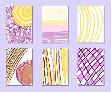 universal love: Tarjeta con amor confesión. Tarjeta con lugar para el texto. Vector. Ilustración. Conjunto de creativos tarjetas postales universales. Mano texturas dibujadas. Diseño de cartel, tarjeta, invitación, cartel, folleto, volante.