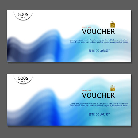 corporate gift: Gift voucher. Vector, illustration. Coupon and voucher template for company corporate style present. Illustration