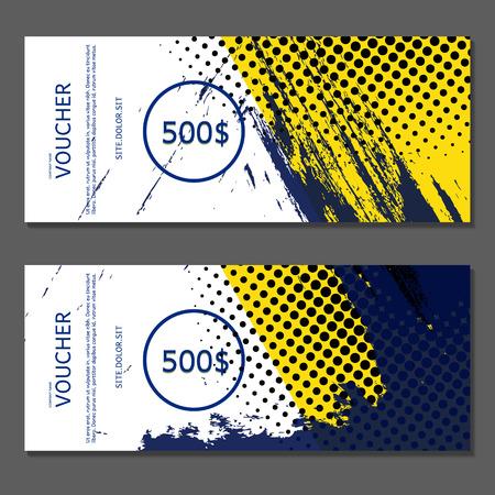 award background: Gift voucher. Vector, illustration. Voucher template.