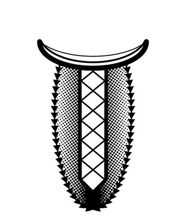 Ethnique géométrique broderie ligne de cou. Vector, illustration. Décoration pour les vêtements. col avant de conception ethnique. motif ethnique géométrique. Vecteurs