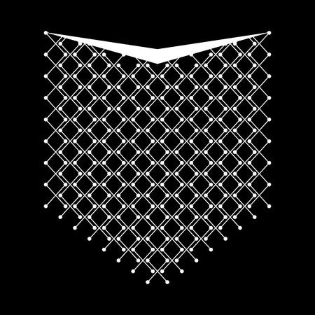민족 기하학적 목 라인 자수. 벡터, 그림입니다. 의류 장식입니다. 전면 칼라 민족 디자인. 기하학적 민족 패턴입니다.