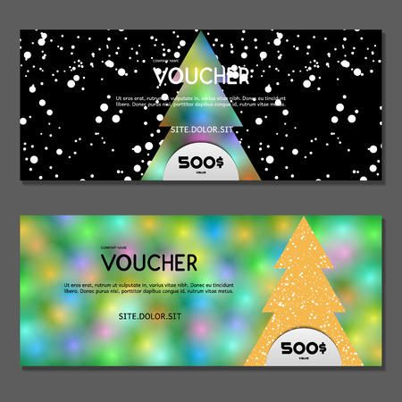 visiting card: Gift voucher. Vector, illustration. Illustration