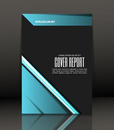 Composizione astratta Template Design per flyer. Brochure. Poster in formato A4. Vettore, illustrazione