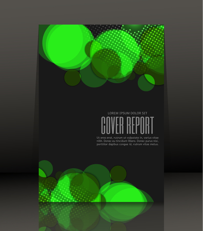 notebook design: Template design for cover. Banner in A4 size. Abstract background. Vector, illustration.