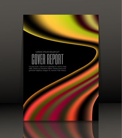 Template design for cover. Banner in A4 size. Abstract background. Vector, illustration.
