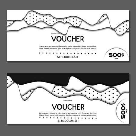 Gift voucher. Vector, illustration. Vettoriali