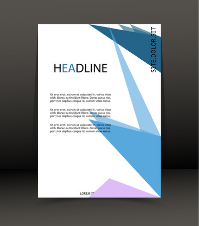Abstract background for brochure, cover, web lay out. Template for the poster. Vector. Illustration