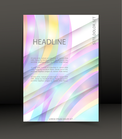 Abstract rainbow background design for brochure, cover, web lay out. Template for the poster. Vector.