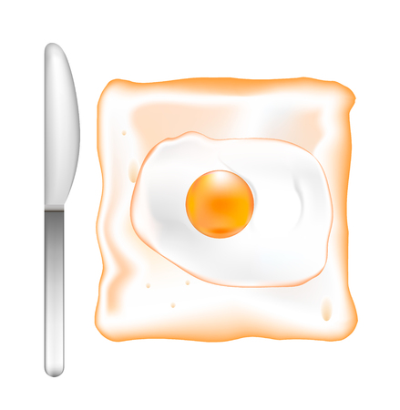 Toast with egg.