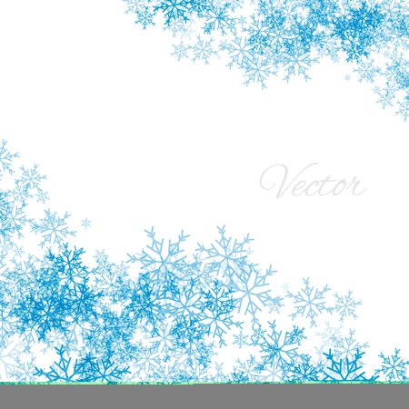 blue christmas background with snowflakes on a white background vector abstract snow for christmas - Blue Christmas Background