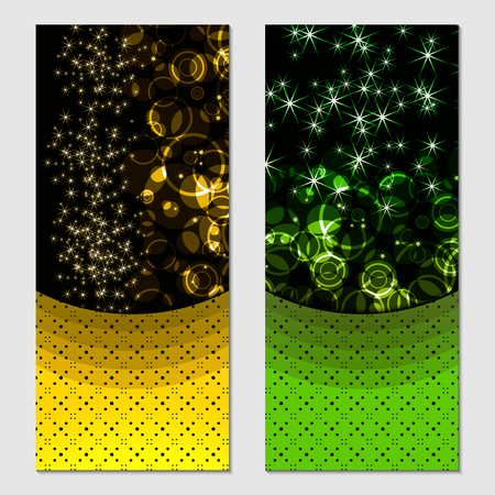 Vertical gift multicolored festive design background with glitter for invitation, voucher.